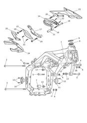 triumph motorcycle  Daytona 675 from VIN 564948 triumph parts section Main Frame amp Fittings