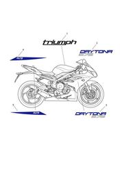 triumph motorcycle  Daytona 675 from VIN 564948 triumph parts section Decals gt 657136