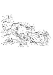 triumph motorcycle  Daytona 675R from VIN: 564948 triumph parts section Exhaust System