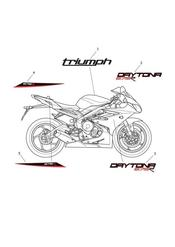triumph motorcycle  Daytona 675R from VIN: 564948 triumph parts section Decals gt 657136