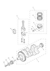 triumph motorcycle  Daytona 675R from VIN: 564948 triumph parts section Crankshaft Connecting Rods Pistons amp Liners