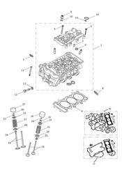triumph motorcycle  Daytona 675R from VIN: 564948 triumph parts section Cylinder Head amp Valves