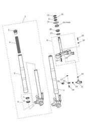 triumph motorcycle  Daytona 675R from VIN: 564948 triumph parts section Front Forks amp Yokes
