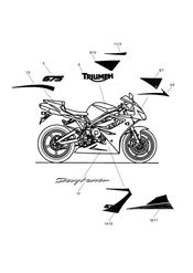 triumph motorcycle  Daytona 675 VIN 381275 to VIN 564947 triumph parts section Bodywork  Decals  Special Edition 2 440190 gt
