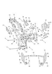 triumph motorcycle  Tiger Explorer upto VIN: 740276 triumph parts section Main Frame amp Fittings