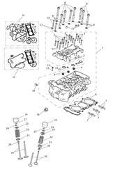 triumph motorcycle  Tiger Explorer XC upto VIN: 740276 triumph parts section Cylinder Head amp Valves