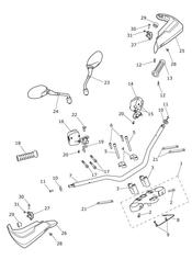 triumph motorcycle  Tiger Explorer XC upto VIN: 740276 triumph parts section Handlebars amp Switches