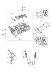 triumph motorcycle  Tiger Sport upto VIN: 570058 triumph parts section Cylinder Head amp Valves
