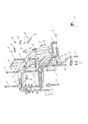 triumph motorcycle  Tiger Sport upto VIN: 570058 triumph parts section Main Frame amp Fittings