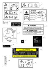 triumph motorcycle  Tiger Explorer XC upto VIN: 740276 triumph parts section Warning Labels