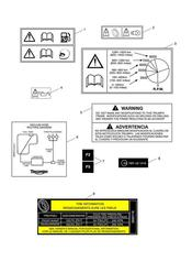triumph motorcycle  Street Triple R to VIN 560476 triumph parts section Warning Labels