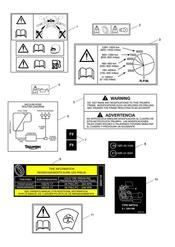 triumph motorcycle  Daytona 675 VIN 381275 to VIN 564947 triumph parts section Warning Labels