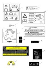 triumph motorcycle  Daytona 675 from VIN 564948 triumph parts section Warning Labels