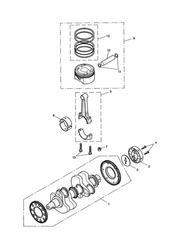 triumph motorcycle  AMERICA (Carbs) triumph parts section Crankshaft Conn Rods amp Pistons