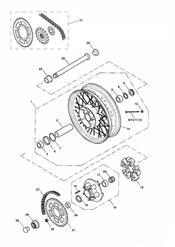 triumph motorcycle  AMERICA (Carbs) triumph parts section Rear WheelFinal Drive gt281465F2  279278F4