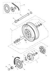 triumph motorcycle  AMERICA (Carbs) triumph parts section Rear WheelFinal Drive  281466F2  279279F4 gt