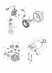 triumph motorcycle  AMERICA (Carbs) triumph parts section Starter amp Alternator