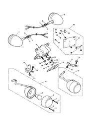 triumph motorcycle  AMERICA (Carbs) triumph parts section Indicators