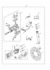 triumph motorcycle  AMERICA (Carbs) triumph parts section Brake Upgrade Kit