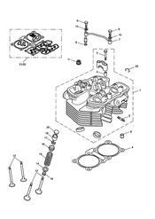 triumph motorcycle  BONNEVILLE & BONNEVILLE T100 (Carbs) triumph parts section Cylinder Head amp Valves  Bonneville T100