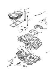 triumph motorcycle  BONNEVILLE & BONNEVILLE T100 (Carbs) triumph parts section Crankcase amp Fittings  Bonneville from Eng No 221609 Black Engines Only