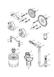 triumph motorcycle  BONNEVILLE & BONNEVILLE T100 (Carbs) triumph parts section Lubrication System