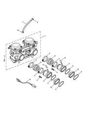triumph motorcycle  BONNEVILLE & BONNEVILLE T100 (Carbs) triumph parts section Carburettors  Bonneville T100