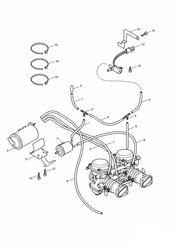 triumph motorcycle  BONNEVILLE & BONNEVILLE T100 (Carbs) triumph parts section Evaporative Loss Control System California only  Bonneville gt Eng No 255908 amp T100 gt 210261