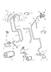 triumph motorcycle  BONNEVILLE & BONNEVILLE T100 (Carbs) triumph parts section Evaporative Loss Control System  California Only  Bonneville T100 210262 gt Eng No 255842