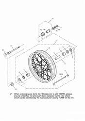 triumph motorcycle  BONNEVILLE & BONNEVILLE T100 (Carbs) triumph parts section Front Wheel