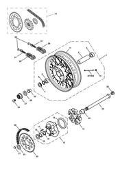 triumph motorcycle  BONNEVILLE & BONNEVILLE T100 (Carbs) triumph parts section Rear WheelFinal Drive