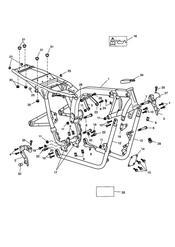 triumph motorcycle  BONNEVILLE & BONNEVILLE T100 (Carbs) triumph parts section Main Frame amp Fittings