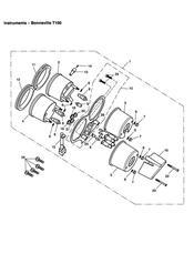triumph motorcycle  BONNEVILLE & BONNEVILLE T100 (Carbs) triumph parts section Instruments Bonneville T100