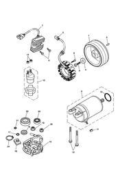triumph motorcycle  BONNEVILLE & BONNEVILLE T100 (Carbs) triumph parts section Starter amp Alternator