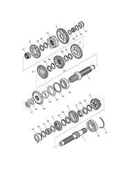 triumph motorcycle  Bonneville EFI upto 380776 triumph parts section Transmission