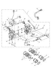triumph motorcycle  Bonneville EFI upto 380776 triumph parts section Throttle Bodies