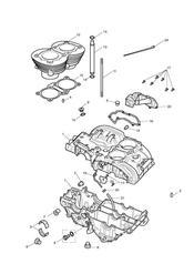 triumph motorcycle  Bonneville EFI upto 380776 triumph parts section Crankcase amp Fittings