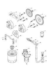 triumph motorcycle  Bonneville EFI upto 380776 triumph parts section Lubrication System