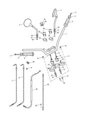 triumph motorcycle  Bonneville EFI upto 380776 triumph parts section Handlebars Top Yoke Cables amp Mirrors