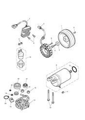 triumph motorcycle  Bonneville EFI upto 380776 triumph parts section Starter amp Alternator