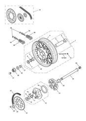 triumph motorcycle  Bonneville EFI upto 380776 triumph parts section Rear Wheel amp Final Drive