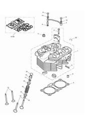 triumph motorcycle  Bonneville from VIN 380777 & SE triumph parts section Cylinder Head amp Valves