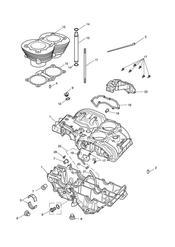 triumph motorcycle  Bonneville from VIN 380777 & SE triumph parts section Crankcase amp Fittings