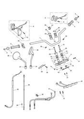 triumph motorcycle  Bonneville from VIN 380777 & SE triumph parts section Handlebars Top Yoke Cables amp Mirrors