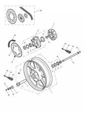 triumph motorcycle  Bonneville from VIN 380777 & SE triumph parts section Rear Wheel amp Final Drive