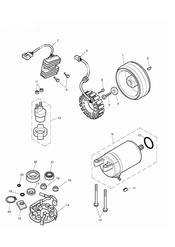 triumph motorcycle  Bonneville from VIN 380777 & SE triumph parts section Starter amp Alternator