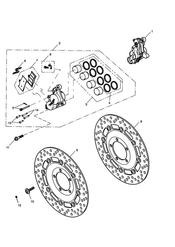 triumph motorcycle  Rocket III - Classic - Roadster triumph parts section Front Brake Caliper amp Discs