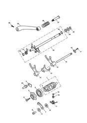 triumph motorcycle  SCRAMBLER triumph parts section Gear Selectors amp Pedal