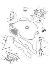 triumph motorcycle  SCRAMBLER triumph parts section Fuel Tank amp Fittings gt317246