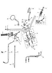 triumph motorcycle  SCRAMBLER triumph parts section Handlebars Top Yoke Cables amp Mirrors